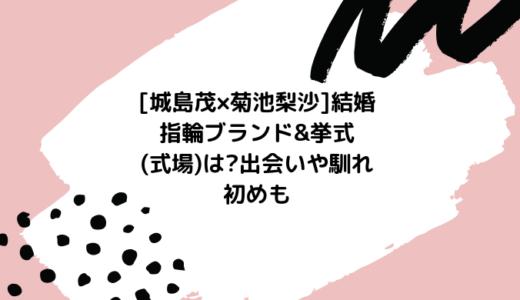 [城島茂×菊池梨沙]結婚指輪ブランド&挙式(式場)は?出会いや馴れ初めも