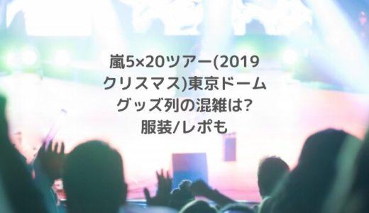 嵐5×20ツアー(2019クリスマス)東京ドームグッズ列の混雑は?服装/レポも